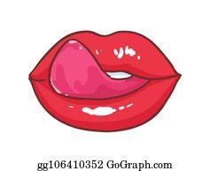 Have quickly lick lip tongue