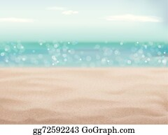 vector stock sand of beach scene background clipart illustration