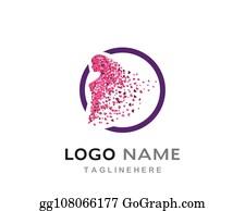 Beauty Logo Cartoon Royalty Free Gograph