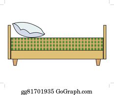 Clip Art Vector Bed side view Stock EPS gg81701873 GoGraph