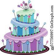 Sensational Clip Art Vector Big Birthday Cake Stock Eps Gg57838315 Gograph Personalised Birthday Cards Paralily Jamesorg