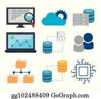 Big Data Cartoon - Royalty Free - GoGraph