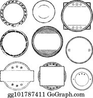 vector stock set of 6 grunge rubber stamps templates stock clip