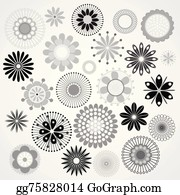 Black And White Flowers Clip Art Royalty Free Gograph