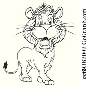 Black And White Lion Clip Art Royalty Free Gograph The lion was perched up on the rock (think the iconic lion king moment). black and white lion clip art royalty