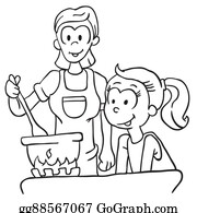 Black Mother Daughter Clip Art - Royalty Free - GoGraph