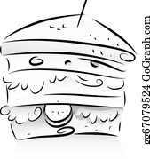 sandwich black clip art royalty free gograph sandwich black clip art royalty free