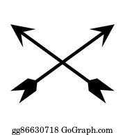 Crossed Arrows Clip Art Royalty Free Gograph