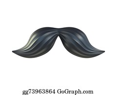 617d01358558 Fake Mustaches Stock Illustrations - Royalty Free - GoGraph