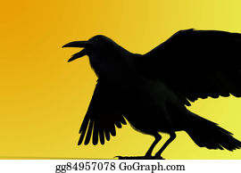 ab7d39bf431b6 Clip Art - Crow. Stock Illustration gg4243336 - GoGraph