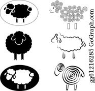 Sheep Clip Art - Royalty Free - GoGraph