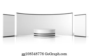 Exhibition Stand Vectors - Royalty Free - GoGraph