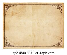 ... Blank Vintage Paper With Antique Border  Blank Paper Background