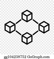 Vector Stock - Augmented reality cube concept silver icon in