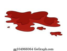 Blood Puddle Clip Art - Royalty Free - GoGraph