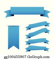royalty free blue ribbon vectors gograph gograph