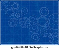 Vector stock house plan vector blueprint clipart illustration blueprint background with cogs malvernweather Images