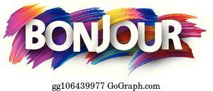 Bonjour Clip Art Royalty Free Gograph