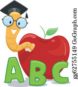 Student Reading Books Showing Studious Clipart | k16178300 | Fotosearch