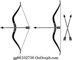 Bow Arrow Clip Art - Royalty Free - GoGraph