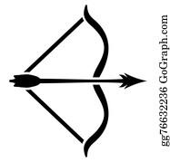 Arrow bow. Clip art royalty free