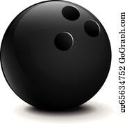 Bowling ball. Clip art royalty free