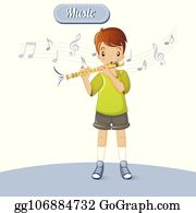 Royalty Free Flute Player Clip Art - GoGraph
