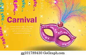 Vector Art Mardi Gras Frame Template With Space For Text Carnival