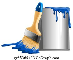 Paint Brush Clip Art - Royalty Free - GoGraph
