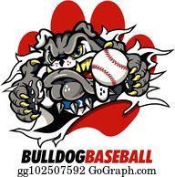 Bulldog Baseball Clip Art - Royalty Free - GoGraph