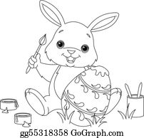 Easter Rabbit Coloring Page Clip Art Royalty Free Gograph