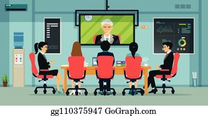 video conferencing clip art royalty free gograph