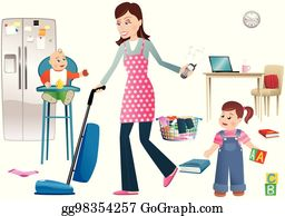 Household Chores Clip Art - Royalty Free - GoGraph
