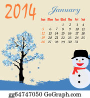 January Clip Art - Royalty Free - GoGraph