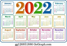 2022 Calendar Clipart.Clip Art 2022 Royalty Free Gograph