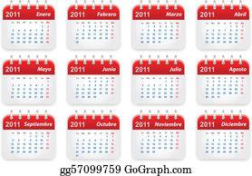2011 Calendario.Calendario Clip Art Royalty Free Gograph