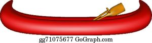 Canoe Paddle Clip Art - Royalty Free - GoGraph