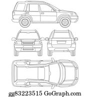 Vector illustration car truck suv 4x4 line draw rent damage blueprint car truck suv 4x4 line draw rent damage condition report form malvernweather Gallery