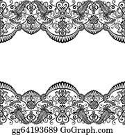 Lace wedding. Clip art royalty free