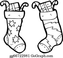 Black And White Christmas Stockings.Christmas Stockings Clip Art Royalty Free Gograph