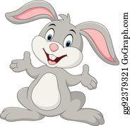 Easter Bunny Rabbit Cartoon Illustration, Grey small rabbit transparent  background PNG clipart | HiClipart