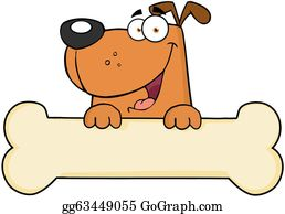 Cartoon Dog With Bone Royalty Free Cliparts, Vectors, And Stock  Illustration. Image 22467088.