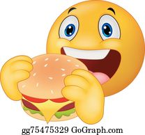 Vector Art - Starving hungry emoticon emoji. EPS clipart ...