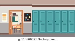 Royalty Free Open School Locker Clip Art Gograph