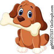 Dog With Bone Clip Art Royalty Free Gograph