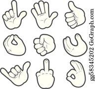 Cartoon Hands Clip Art Royalty Free Gograph