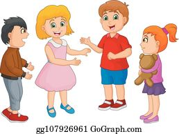 Clipart of Caucasian Babies Talking - Royalty Free Vector Illustration by  Graphics RF #1390100
