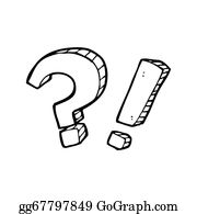 stock illustration cartoon question mark and exclamation mark