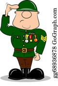 Soldier Clip Art - Royalty Free - GoGraph