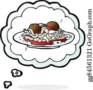 Royalty Free Spaghetti And Meatballs Clip Art - GoGraph